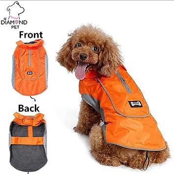 WLDOCA Perro Mascota Chaqueta De Abrigo Chaleco Ropa De Traje Cálido para Perros Pequeños Medianos Y Grandes,Orange,S: Amazon.es: Deportes y aire libre