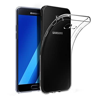 sale retailer 724a5 21025 Galaxy A3 2017 Case, UCMDA Slim Crystal Clear Soft TPU Gel Cover with  Shock-Absorption Protective Bumper Case for Samsung Galaxy A3 2017 (A320F  4.7 ...