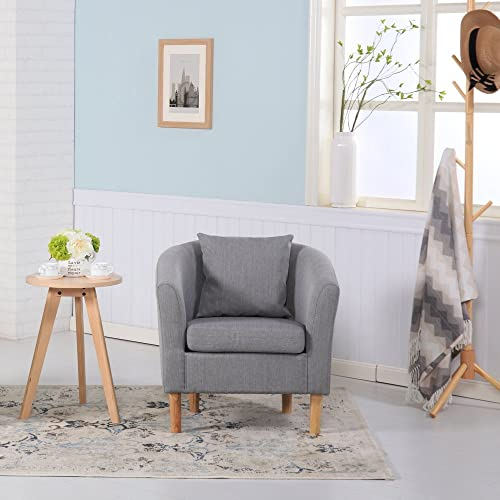 premium check fabric tub chair armchair dining living room office