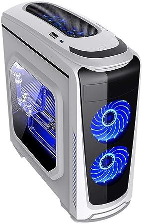 XZ15 Chasis de Juegos de PC con Panel Lateral de Ventana Blanca, Mid-Tower, ATX/M-ATX/Mini ITX, Soporte for refrigeración líquida y Ventiladores, PC de Escritorio Profesional for Jugadores: Amazon.es: Hogar