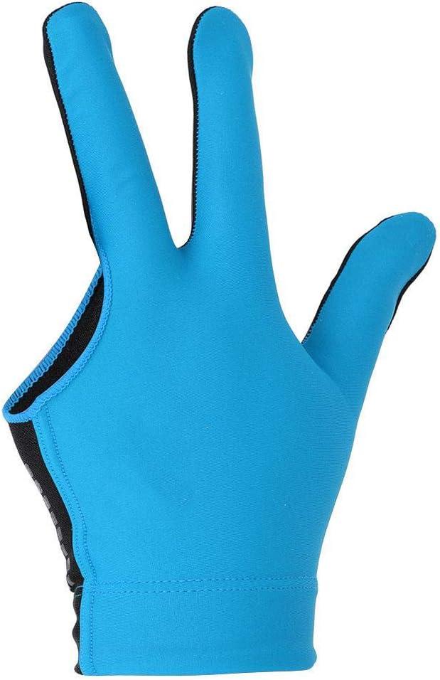 Walmeck 1 St/ück Billardhandschuh 3 Finger Queue Sport Handschuh M/änner Frauen Billard Shooters Rechts Links Austauschbar Snooker Handschuhe