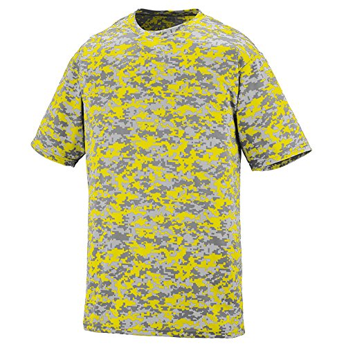 Augusta Sportswear Digi Camo Wicking T-Shirt, Medium, Power Yellow Digi