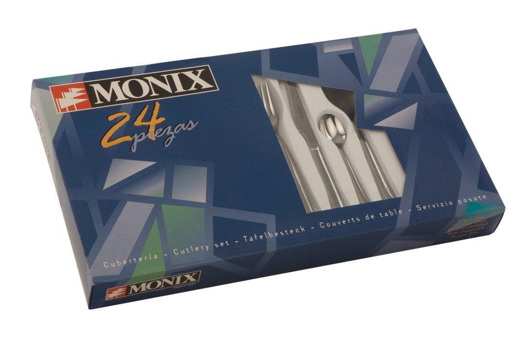 Monix Reims - Set 24 piezas cubiertos de acero inox 18/c.: Amazon.es: Hogar
