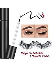 Willtech Magnetic Eyelinerwith Magnetic False Eyelashes Set, Waterproof/Smudge-Proof/Reusable UltraThin Magnetic Eyeliner, Natural Look No Glue False Lashes