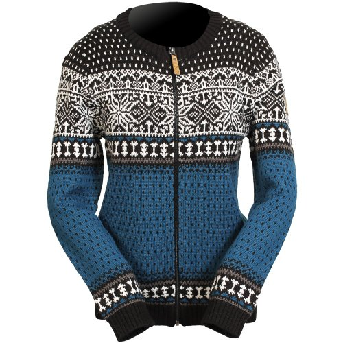 ICEWEAR Martha Women's Nordic Wool-blend Sweater (M, Ink blue)
