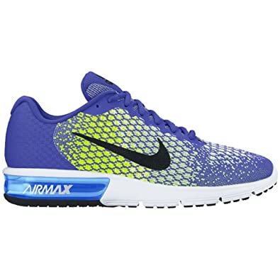 Nike Womens Air Max Sequent 2 Polarized Blue Running Shoes Sz 8.5