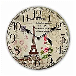Reloj de pared diseno paris bird reloj de la cocina 30cm - Relojes de cocina modernos ...
