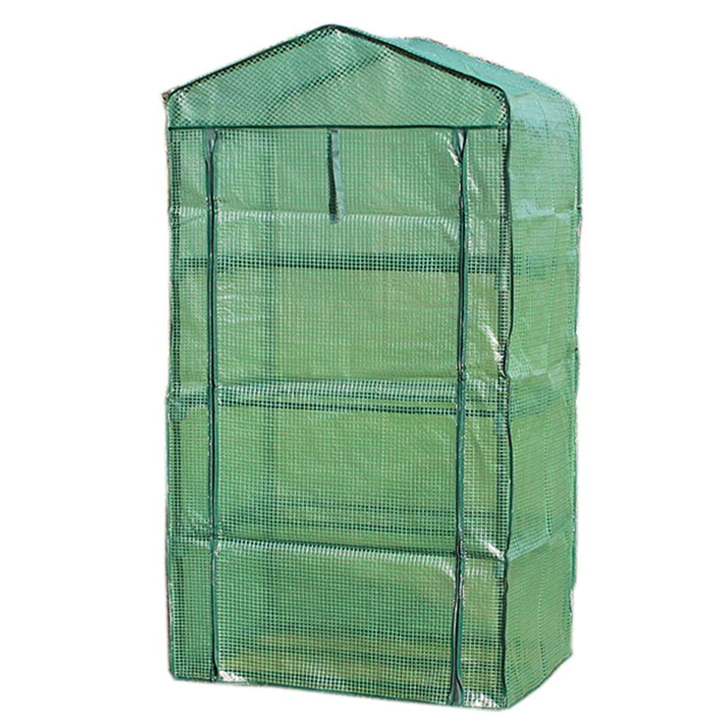 4 tier ZAQ Miniature Greenhouse  Garden Grow Plants Grow House with Roll up Door & Reinforced PE Cover for Temperature Control, 3 4 5 Tier (Size   3 tier)