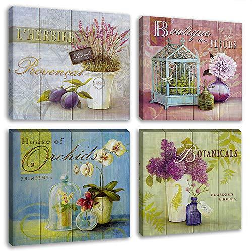 [해외]Biufo 꽃 캔버스 인쇄 벽 예술 골동품 꽃 정물 그림 레드 버드 라벤더 난초 달리아 꽃병 작품 사진 식사 룸 홈 장식 액자 / Biufo Flowers Canvas Prints Wall Art Antique Floral Still Life Paintings Redbud Lavender Orchid Dahlia Vases Artwor...