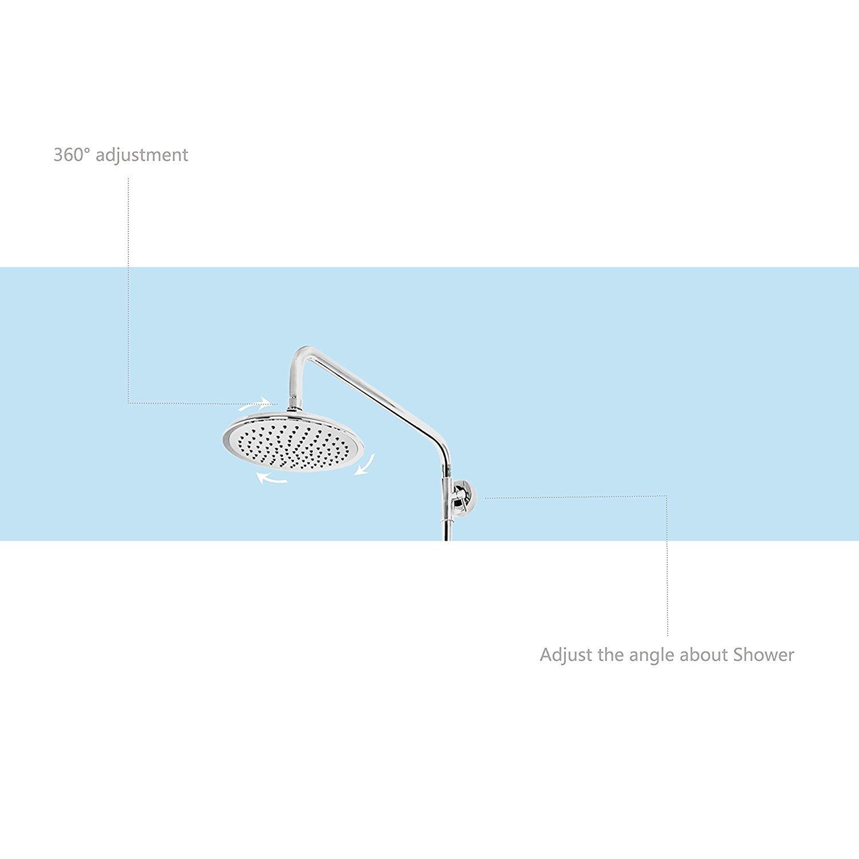 Horleora Duschsystem - 6 Zoll Brausestangenset mit Umstellung ...