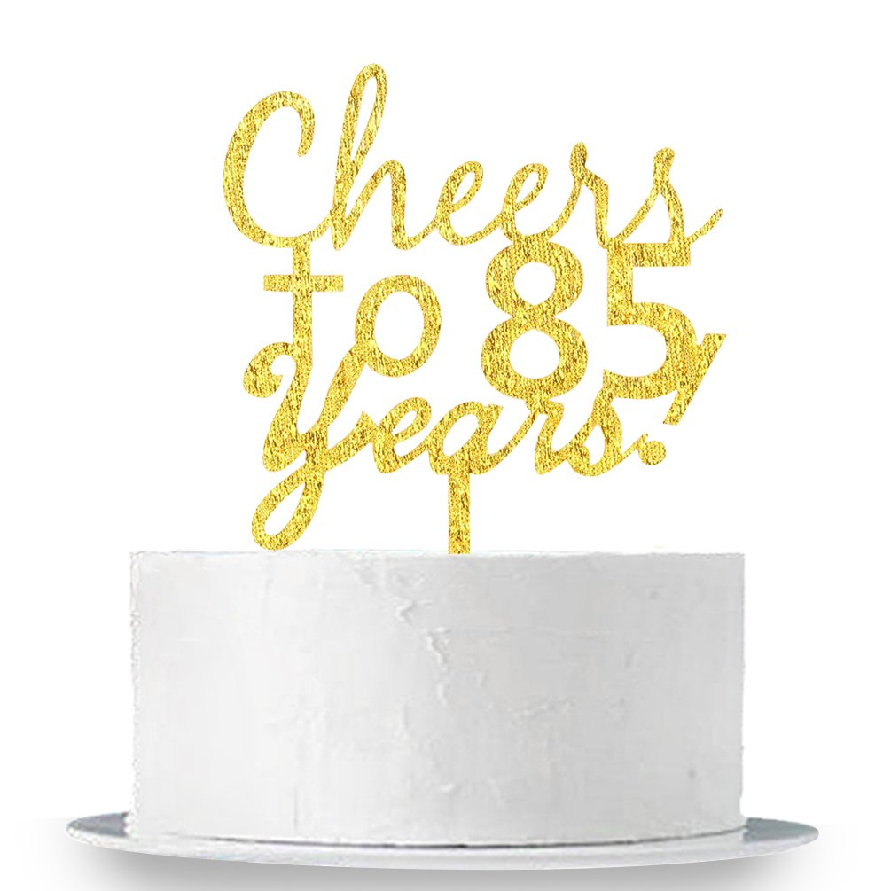 INNORU® Cheers to 85 Years Cake Topper - 85th Birthday,Anniversary Cake Bunting Party Decoration Sign