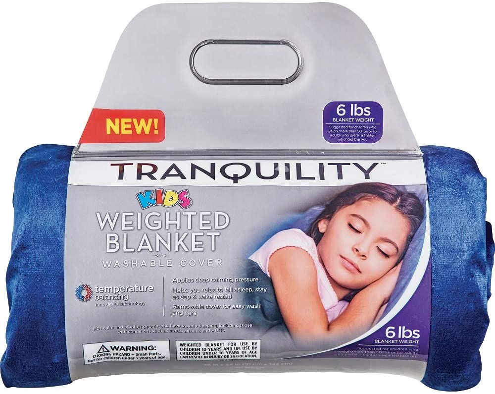 Tranquility. Kids Weighted Blanket ● Blue ● 6 lbs