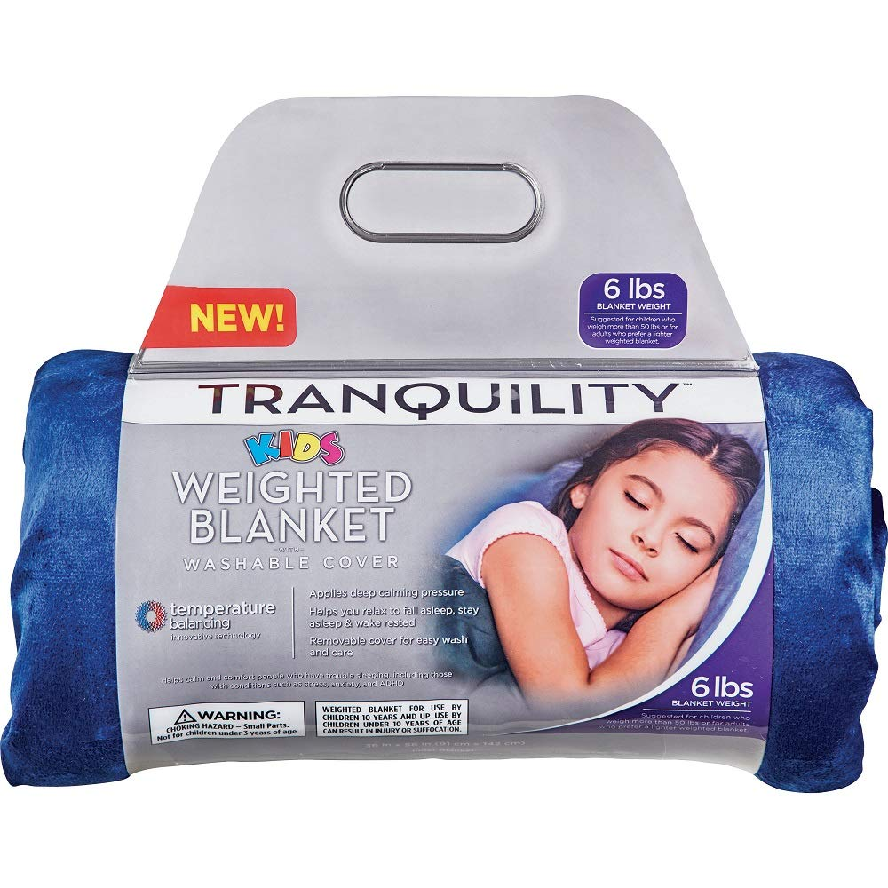 Tranquility. Kids Weighted Blanket ● Blue ● 6 lbs by Tranquility.