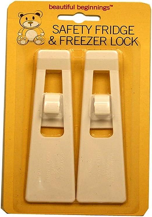Baby Toddler Child Proof Fridge Freezer Safety Locks Two Pack Babyproofing: Amazon.es: Bebé
