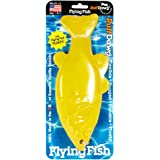 Ruff Dawg Flying Fish 100-Percent Rubber Dog Retrieval Toy, Colors Vary