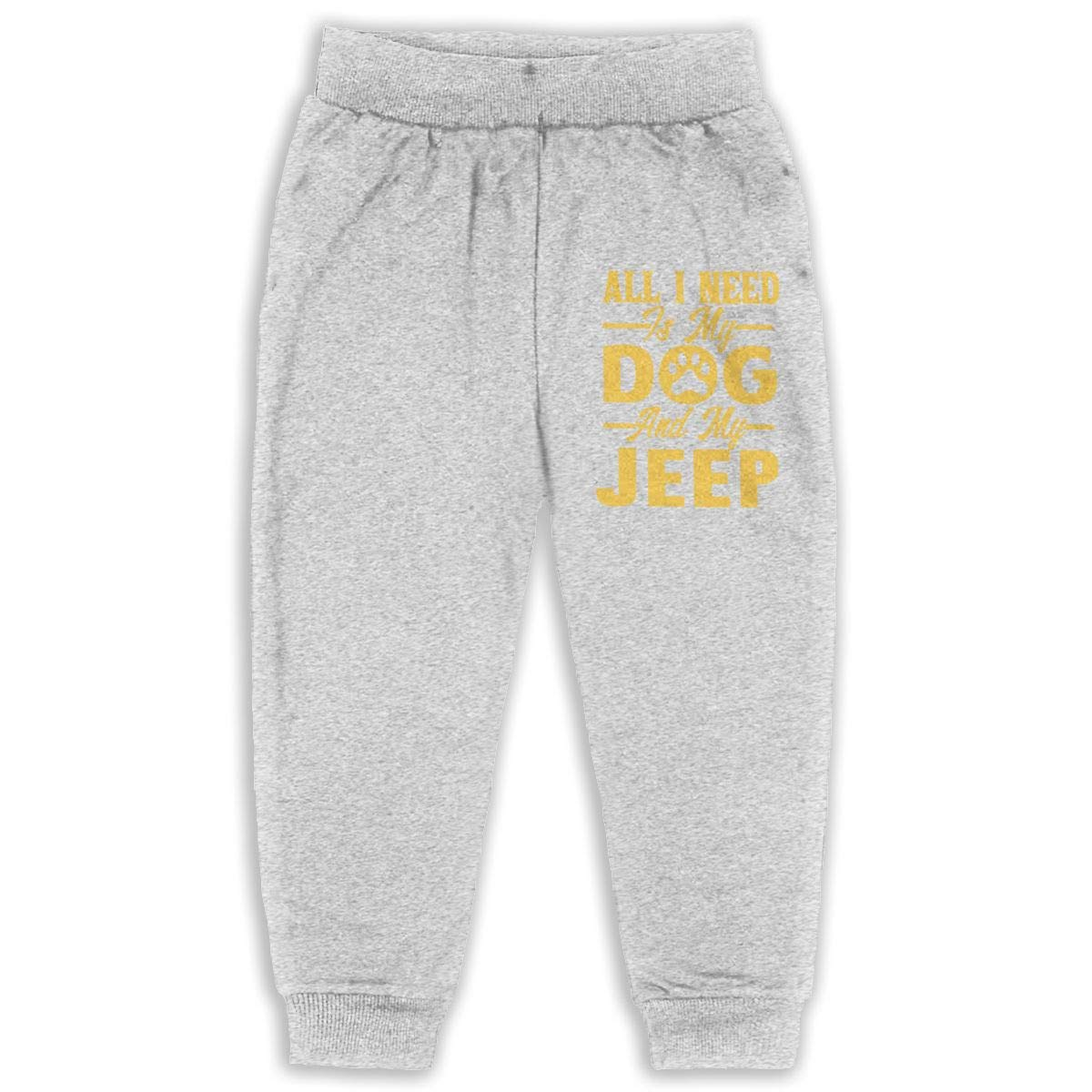 All I Need is My Dog and My Jeep 2-6T Boys Active Jogger Soft Pant