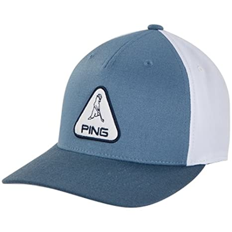 45f163115d9 Image Unavailable. Image not available for. Color  Ping 2018 Mr Patch Adjustable  Hat Cap- Light Blue