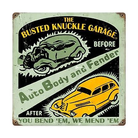 Amazon.com: Auto Body Shop metal Sign Wall Decor 12 x 12 ...