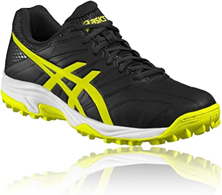 Asics Mens Gel-Lethal MP 7 Hockey Shoes Pitch Field Black Breathable Trainers
