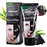 Image of Charcoal Peel Off Mask, Black Mask, Purifying Peel Off Mask, Activated Charcoal Deep Pore Cleansing Mask, Blackhead Purifying Peel Off Mask for Face Nose Acne Treatment Oil Control