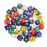 Outee 7 x 7 Polyhedral Dice 7-Die Series Dungeons and Dragons DND MTG RPG D20 D12 D10 D8 D6 D4 Game Dice Sets with Pouches, 49 Pieces