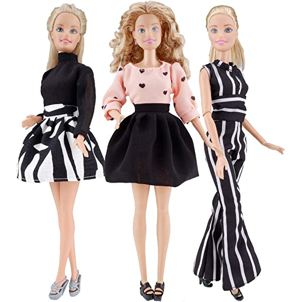 New fashionista turtle neck top and floral skirt for your Barbie Doll Au Made