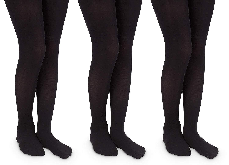 Jefferies Socks Girls School Uniform Nylon Tights 3 Pair Pack