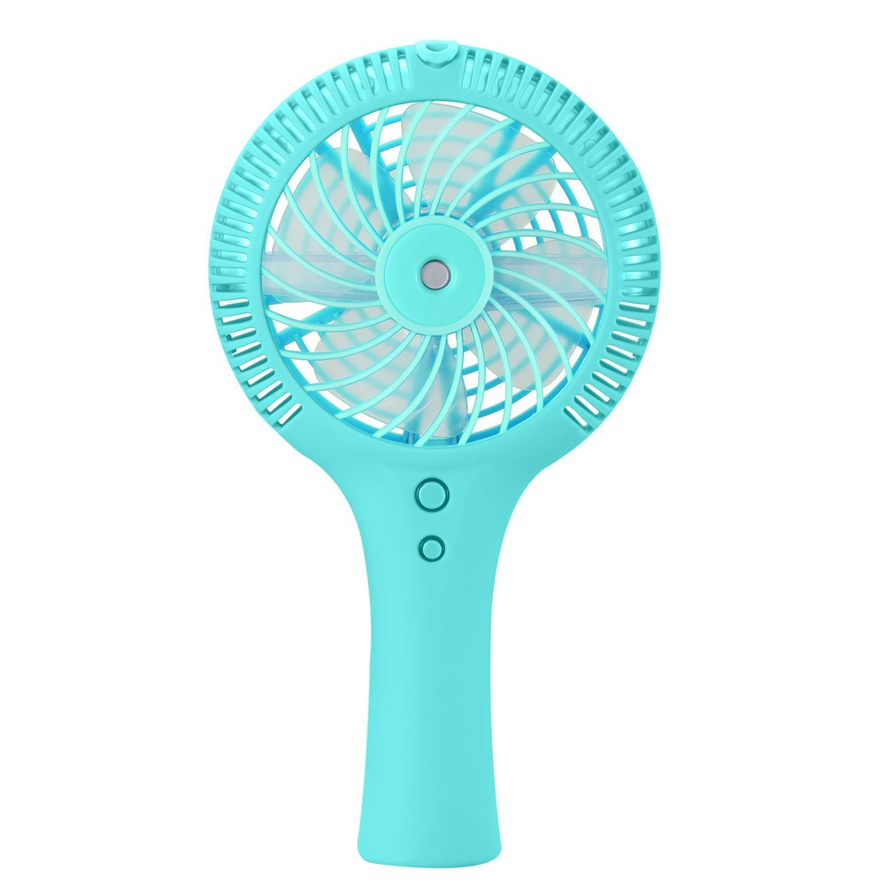 BINLAN Misting Fan, Mini Handheld Water Spray Cooling Mist Humidifier USB Rechargeable Fans (3 Wind Speed Modes, 2000mAh Battery) for Personal Home Office Travel Commuting