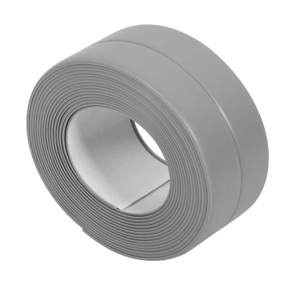 KaLaiXing Tub and Wall Caulk Strip. Kitchen Caulk Tape Bathroom Wall Sealing Tape Waterproof Self-Adhesive Decorative Trim-Gray