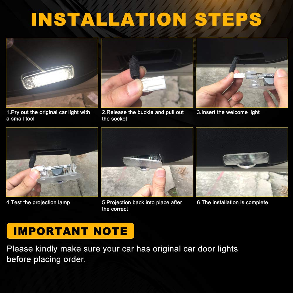 Car Door Projector Lights for-Lexus Logo-Courtesy Lamps Ghost Shadow Lights RX//ES//GX//LS//LX//IS Welcome Laser Projector Lights Lexus Accessories Kit 2 Pack LESRUCE 5559042123