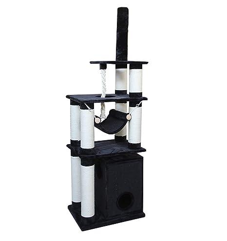 Lemio – Árbol rascador para Gatos Colos – 15 cm de Grosor de Troncos de sisal