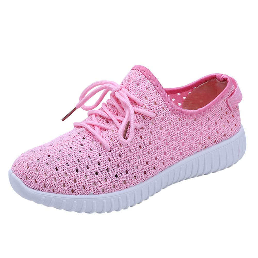 Chaussures Chaussures de Sport, Yesmile Rose Femmes Chaussures Chaussures de Maille en Plein air Casual Lace up Semelles Confortables Chaussures Rose f48fdcb - epictionpvp.space