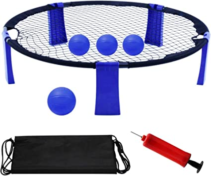 Family Party Perfect Outdoor Indoor Gift for Teens Vollyball 3 Spike Game Set