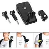 Fantaseal® Action Caméra Clip Mount multifonctionnel 360 degrés rotations Caméra Sac Pince Bacpac Pince Action Caméra Clamp Mount Chapeau Clip Ceinture Champ Mini Backpack Clamp Backpack rotatif Clip Mount pour SONY FDR X-3000V X1000VR HDR AS 300 AS-10 AS-15 AS-20 AS-30 AS-50 AS-100 AS-200 AZ-1 + GoPro Hero 5 / 4/3+/3/ Session / SJCAM SJ4000 SJ5000 / Garmin Virb XE / Xiaomi Yi / DBPOWER QUMOX etc GoPro-Like Action Caméra + Waterproof Caméra