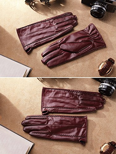 Harrms Best Luxury touchscreen Italian Nappa Genuine Leather Gloves for women's Texting Driving Cashmere Lining ...