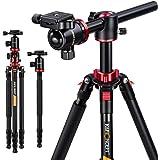 K&F Concept Trípode Profesional TM2534T Trípode Extensible Monopod 4 Secciones con 360° y 180° Columna Central Cabeza de Bola Placa Rápida Liberazación para Cámara DSLR Canon Nikon Sony GoPro