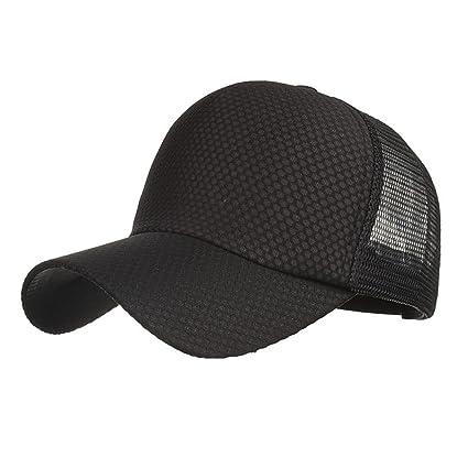 3067c50387ff LMMVP Gorra de Béisbol de Malla Deportiva,Mujeres Hombres Ajustables Lavado  Sólido Color Sombrero de Béisbol Ocasional Cap Sombra