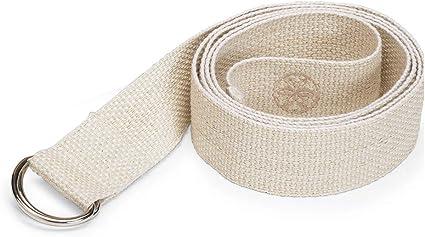Amazon Com Gaiam Eco Conscious Organic Cotton Yoga Strap Natural Yoga Accessories Sports Outdoors