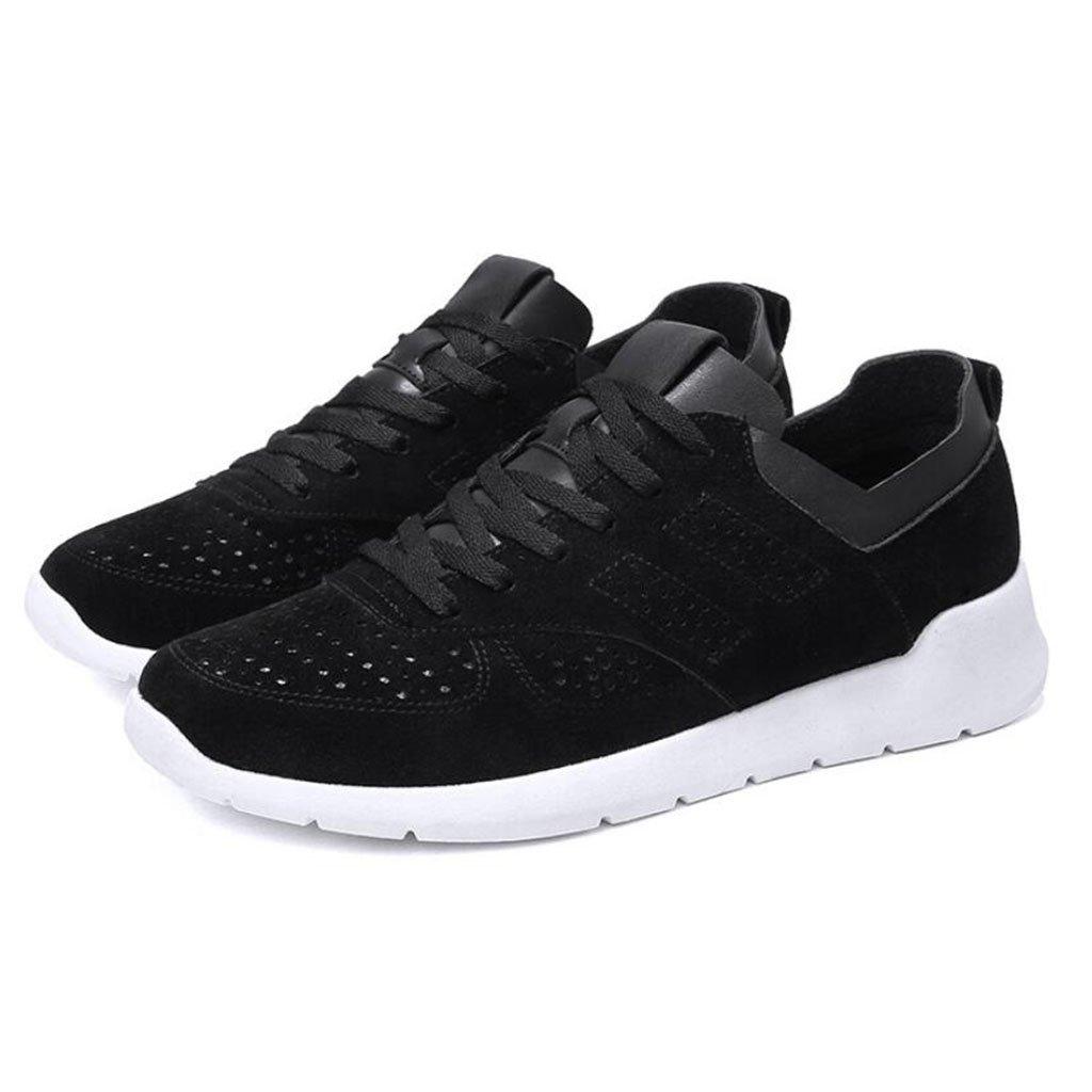 GAOLIXIA Zapatillas de deporte respirables de gamuza de los hombres Zapatos ocasionales de verano Zapatos retro de A-gump Zapatos perezosos Zapatos de senderismo cómodos al aire libre ( Color : Negro , tamaño : 40 ) 40 Negro