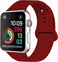 IDON Sport Watch Band, Soft Silicone Replacement Sports Band Compatible with Apple Watch Band 2018 Series 4/3/2/1 38MM...