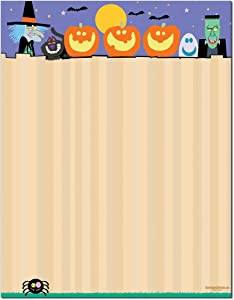 Halloween Stationery - 8.5 x 11-60 Letterhead Sheets - Halloween Printer Paper