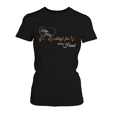 Mein Herz schlägt für meinen Hund - Damen T-Shirt von Fashionalarm | Fun  Shirt