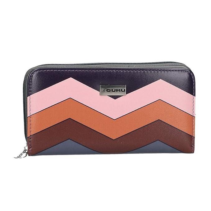 super popular 2242b fda0b guru Cartera billetera mujer compacto rosa apertura zip y ...