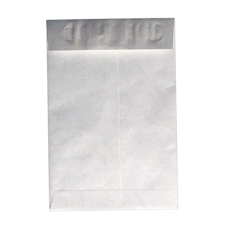 6 x 9 Tyvek Envelopes, Peel & Stick Closure, Open Top, White, 500/Box
