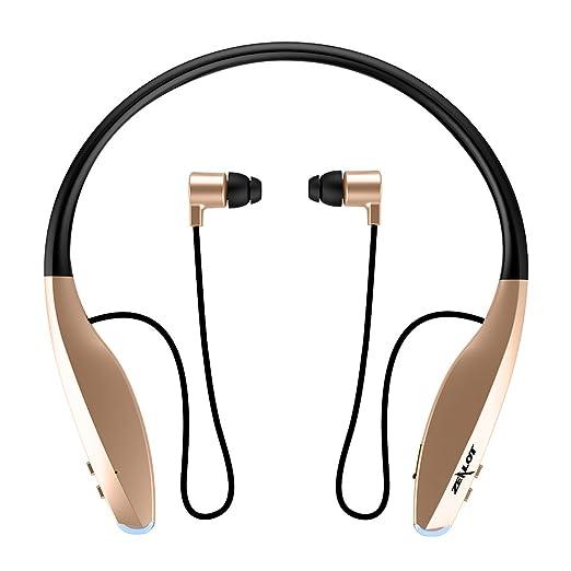 Auriculares Deportivos , MENGGOOD Auricular Inalámbricos Bluetooth 4.0 Cascos Manos Libres Cancelación de Ruido con mic para Deportes Gimnasio Corriendo ...