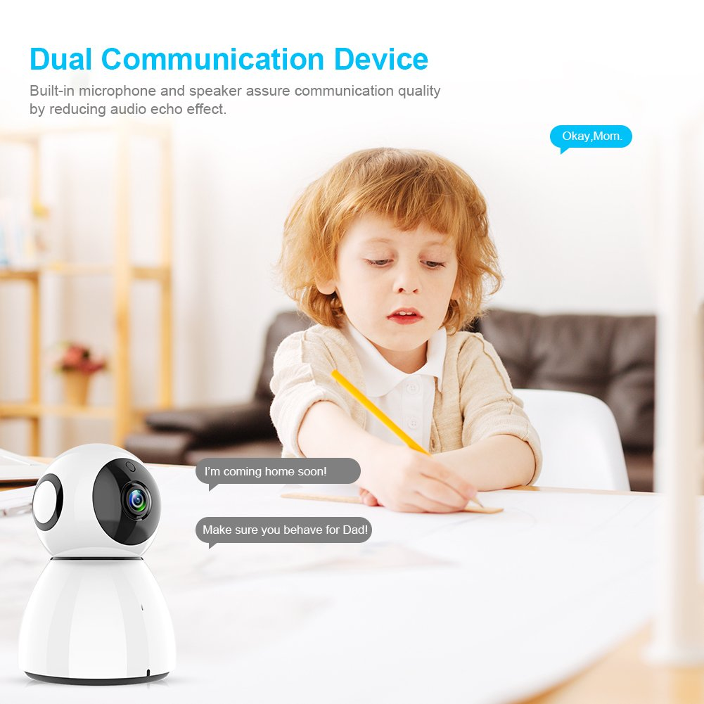 Wireless Security Camera, Sywan 1080P HD WiFi Camera Support Cloud Storage Baby Monitor Home Surveillance Camera with Motion Sounds Detection Two-Way Audio Night Vision,White by Sywan (Image #6)