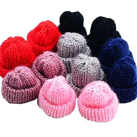 12 Piece Assorted Knitting Wool Flower for DIY Hair Accessories Yarn Hat