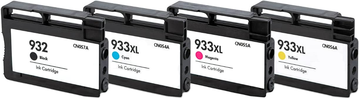 HouseOfToners Remanufactured Ink Cartridge Replacement for HP 932 /& 933XL 1 Black, 1 Cyan, 1 Magenta, 1 Yellow, 4-Pack