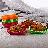 Webake Rectangular Cupcake Liners Baking Cups 4.3