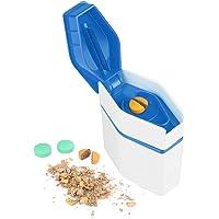 Flexzion Pill Crusher & Cutter, 3-in-1 Medicine Tablet Vitamin Grinder Splitter Organizer w/Storage Container Box…